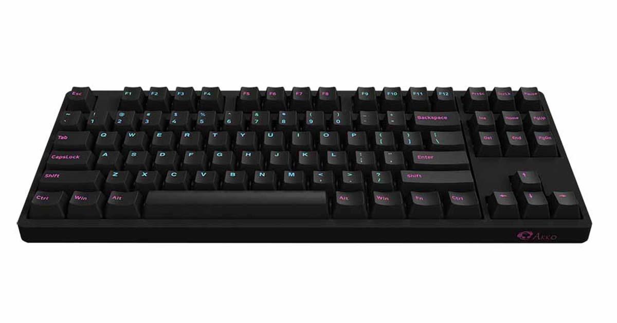Bàn phím cơ AKKO 3087 Midnight sử dụng keycap PBT Double-Shot