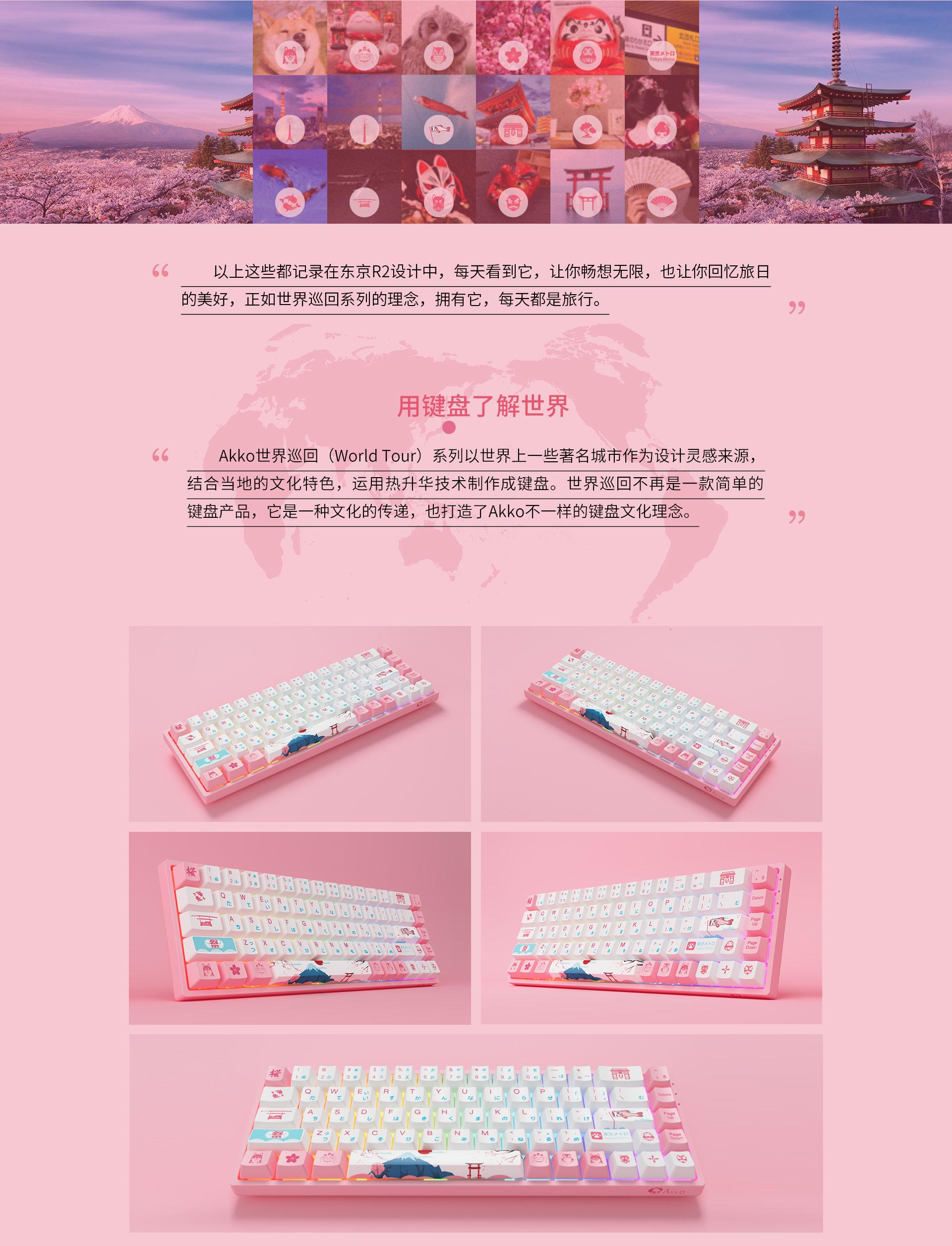 Giới thiệu về bàn phím AKKO 3068 v2 World Tour Tokyo R2 RGB