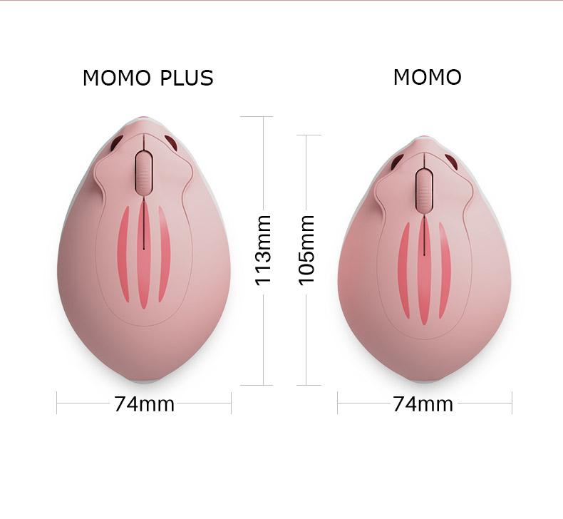 Kích thước AKKO Hamster Momo Plus so sánh với AKKO Hamster Momo
