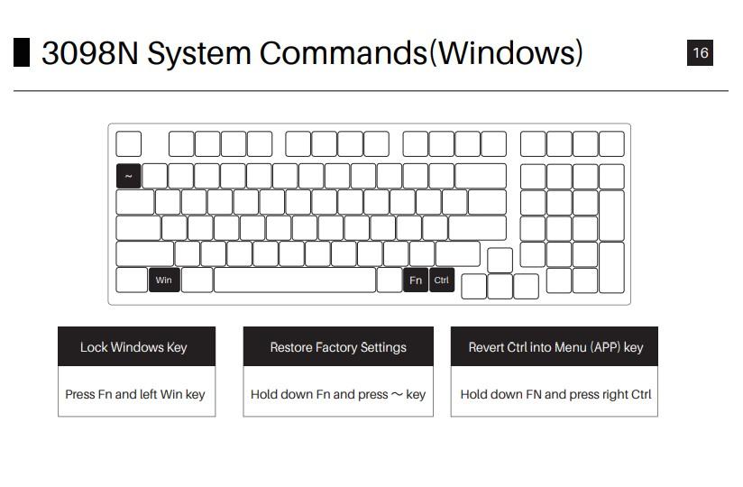 AKKO 3098N System Commands Windows OS
